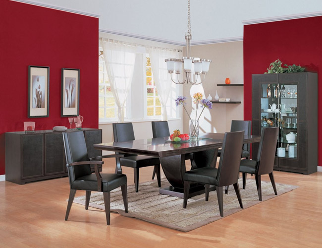 Modern Kitchen and Dining Room Designs red background