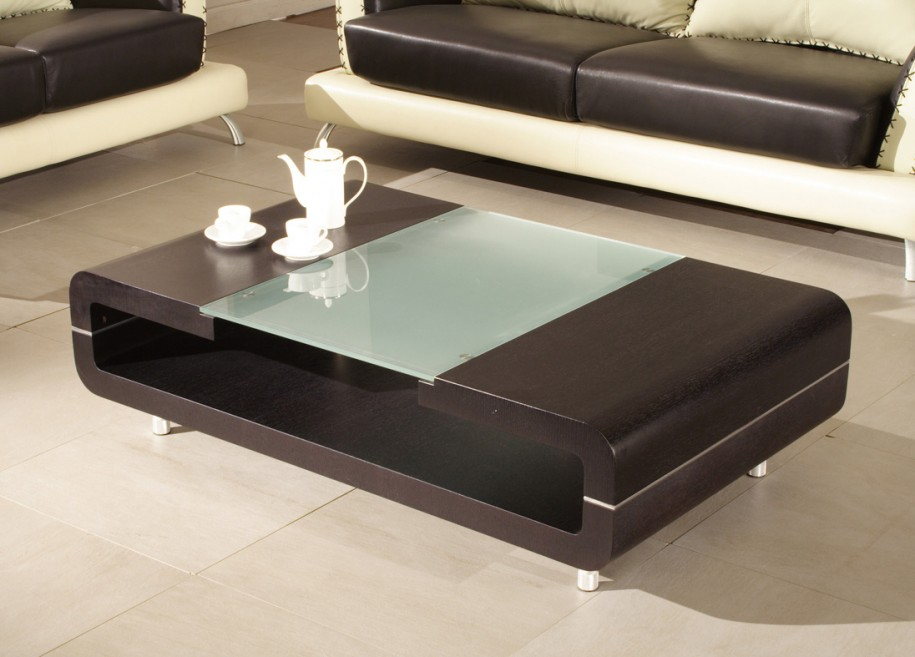modern wooden coffee table with storage