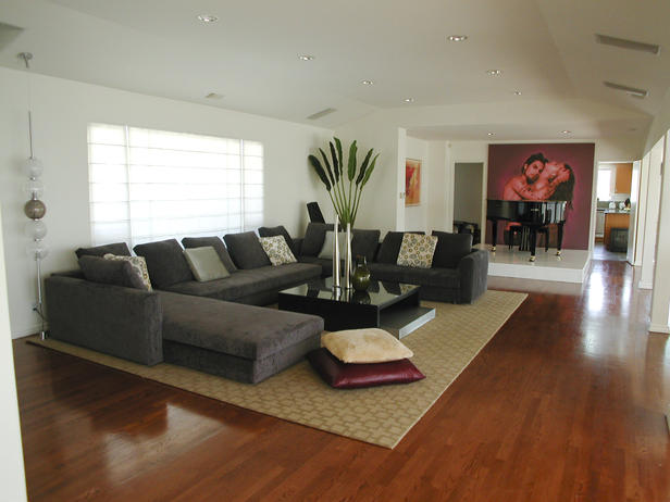 Decorating Ideas Modern Sectional Grey Sofas