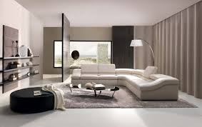 Minimalist Apartment Design With Plain White Sofa And Arch Lamp Decorations