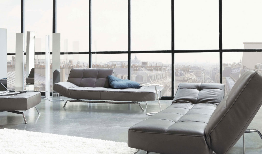 Modern Contemporary Style Furniture In Light Grey Color Sofa