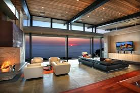 Modern Fireplace with Furniture