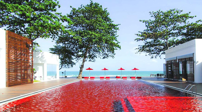 Swimming pool in The Library Hotel Koh Samui, Thailand