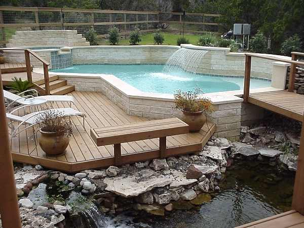 deck designs for above ground swimming pools