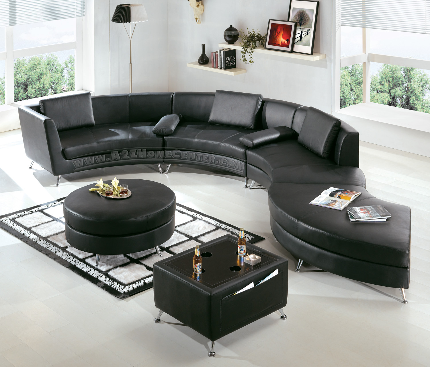 modern leather contemporary bed sectional furniture