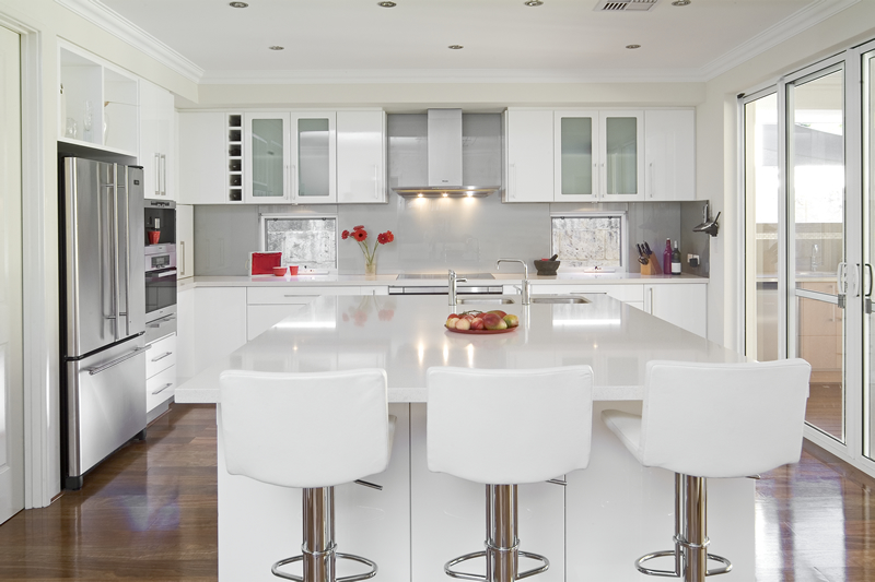 modern white color cabinets kitchen and furniture