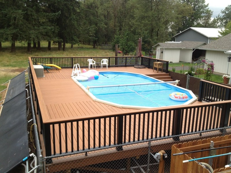 small deck designs for above ground pools