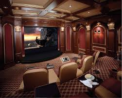 wonderful living room theatre with large modern television set surrounding lacquer furniture