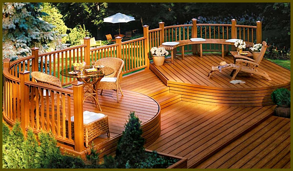 wooden deck design ideas and pictures