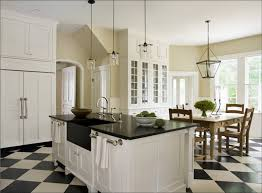 Black And White Kitchen Flooring Ideas with Modern Black Countertops White Kitchen Cabinets