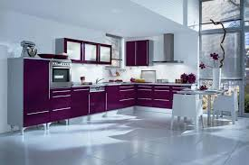 Kitchen Floor Tiles Ideas With Awesome Purple Color Kitchen Cabinet Table Chairs Ideas Image Pinterest