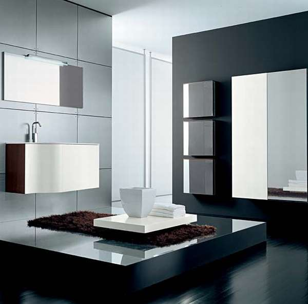 Cool Modern and Contemporary White Bathroom Vanity Sinks With Stainless Steel Faucets and Mirror