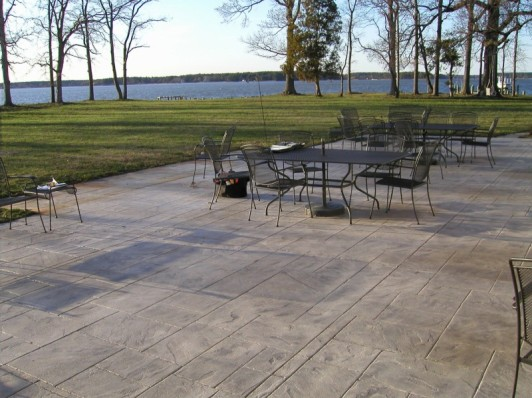 Eyecathcing Patio Backyard With Low Stamped Concrete Patio Cost Installed