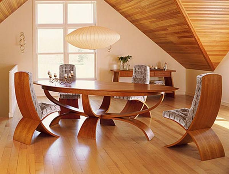 Unique and Luxury Wood Dining Room Table Design Ideas In Luxury Dining Room Space
