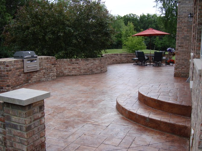 awesome stamped concrete patio patterns