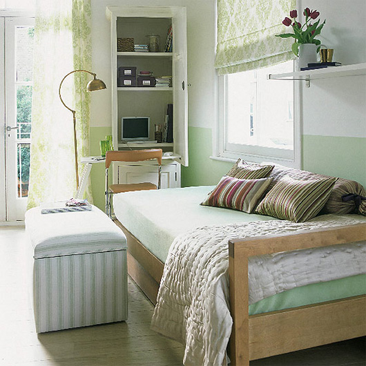 Cool small home office design ideas in bedroom white computer cabinet with door
