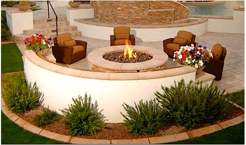 stamped concrete patios dayton ohio with brown color stamped concrete patio with seating wall and fireplace