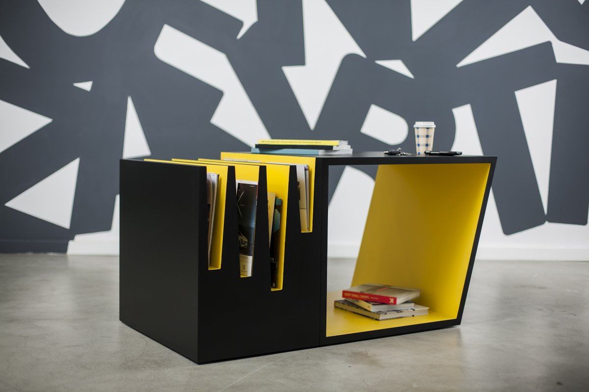 stunning look best yellow and black coffee table with books storage