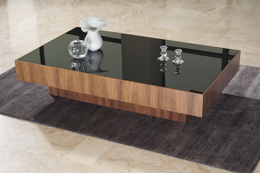 wood and glass black countertop coffee table design ideas contemporary