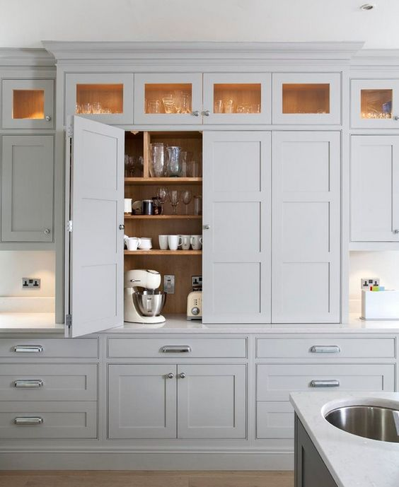 Cool Idea In Replacement Kitchen Cabinet Doors To Give New White Touch