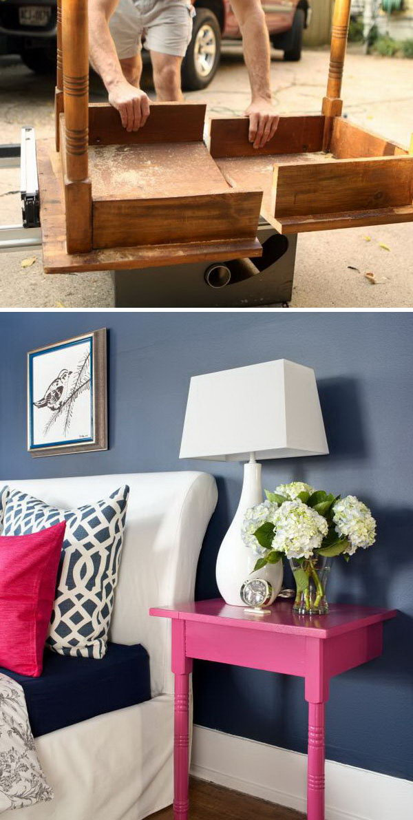 DIY Nightstands Project from unused table