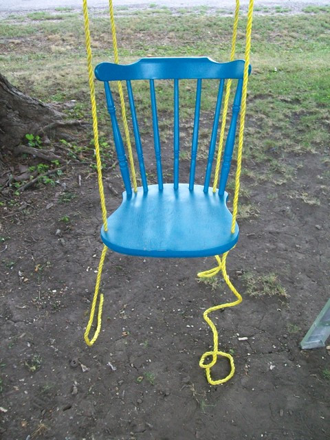 Old Chair to Creative Swinging Chair after