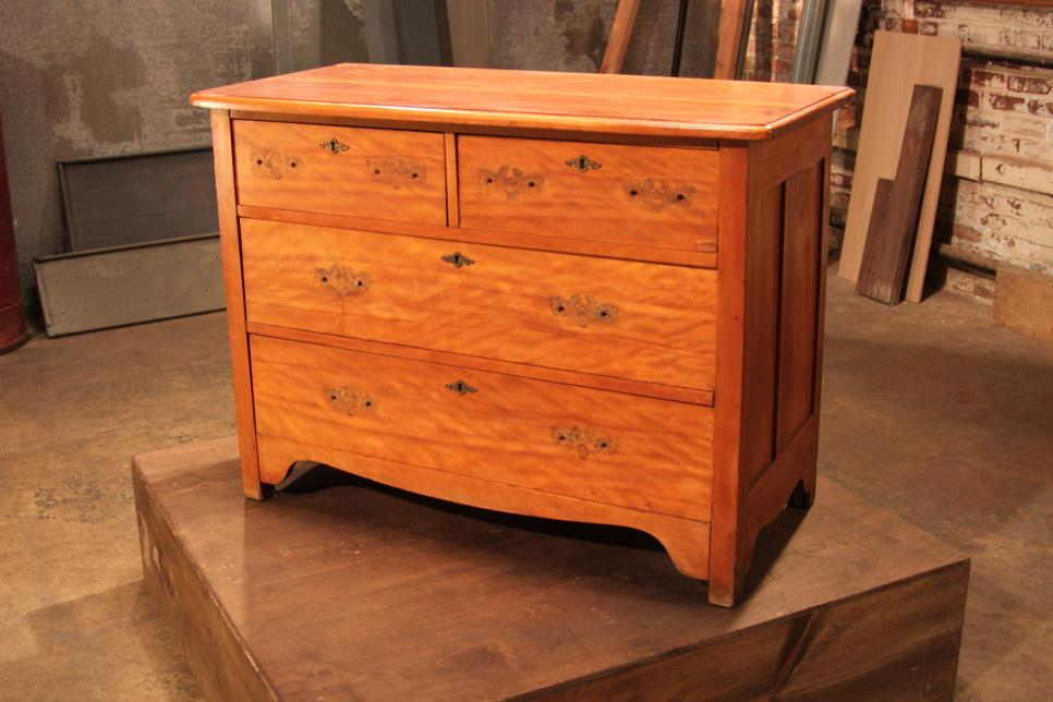 Old Dresser into Rustic Kitchen Island before