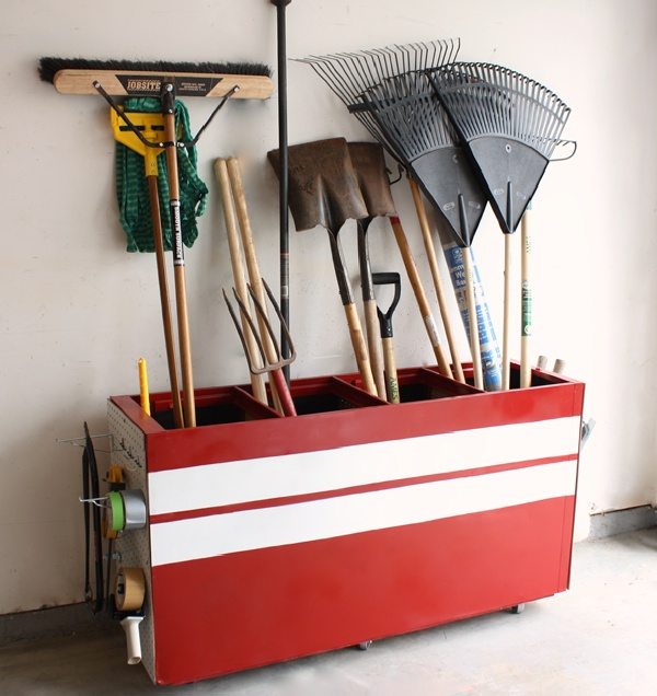 file cabinet into a garage storage after