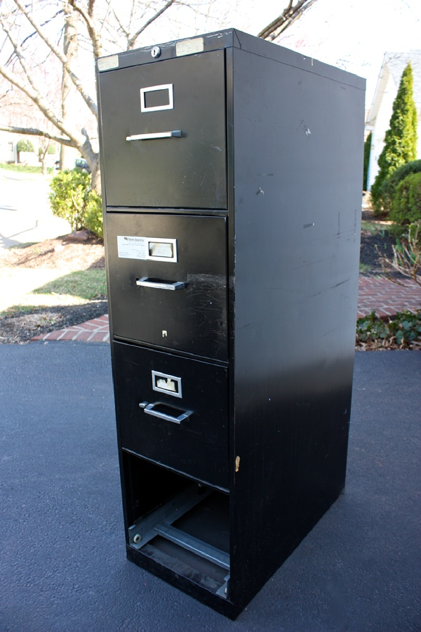 file cabinet into a garage storage before