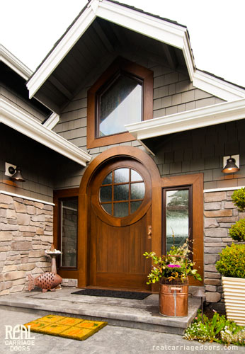 Custom made Semicircle Top Arched Entry Doors