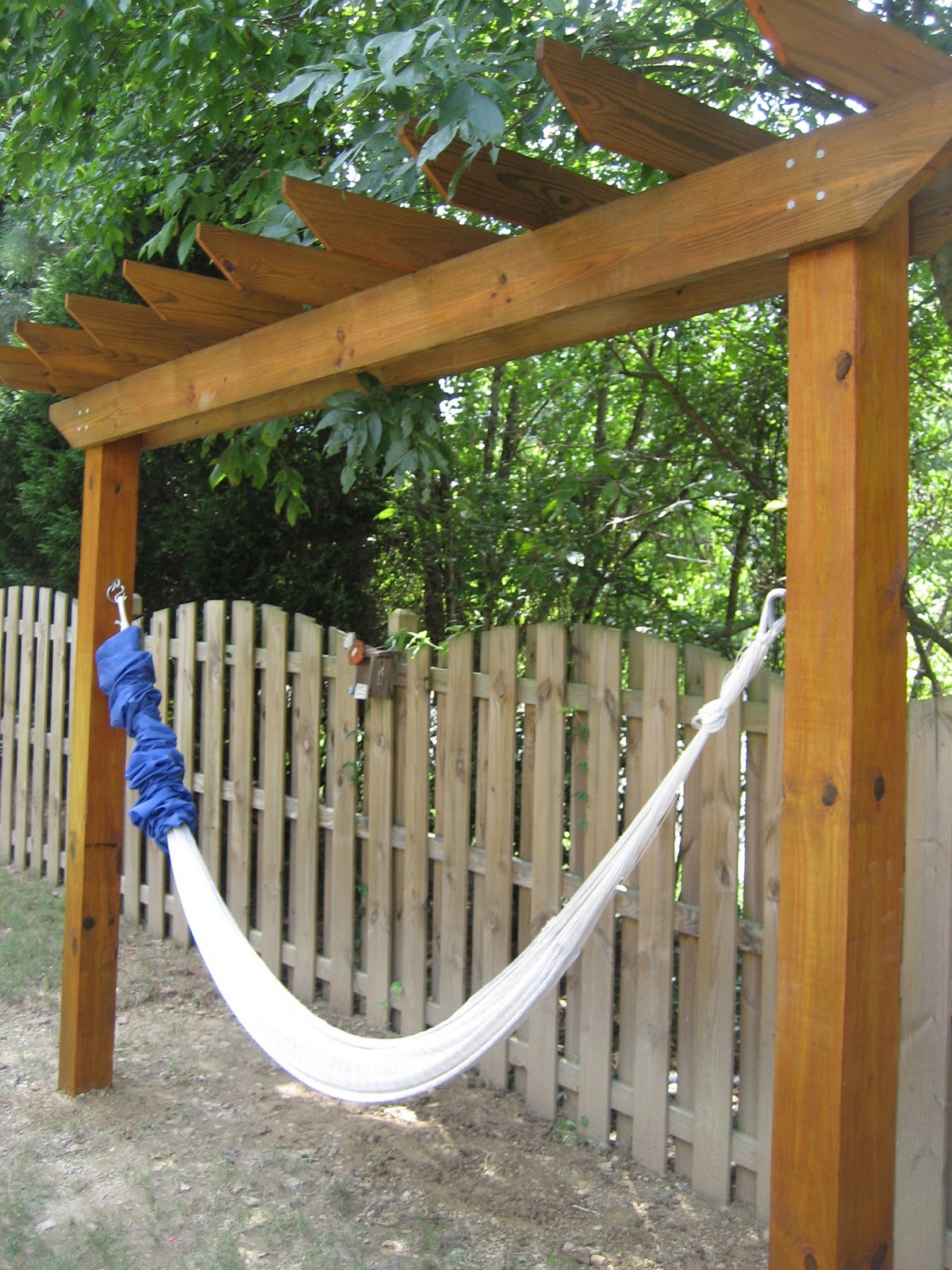 Outdoor Hammock With Stand Another Angle