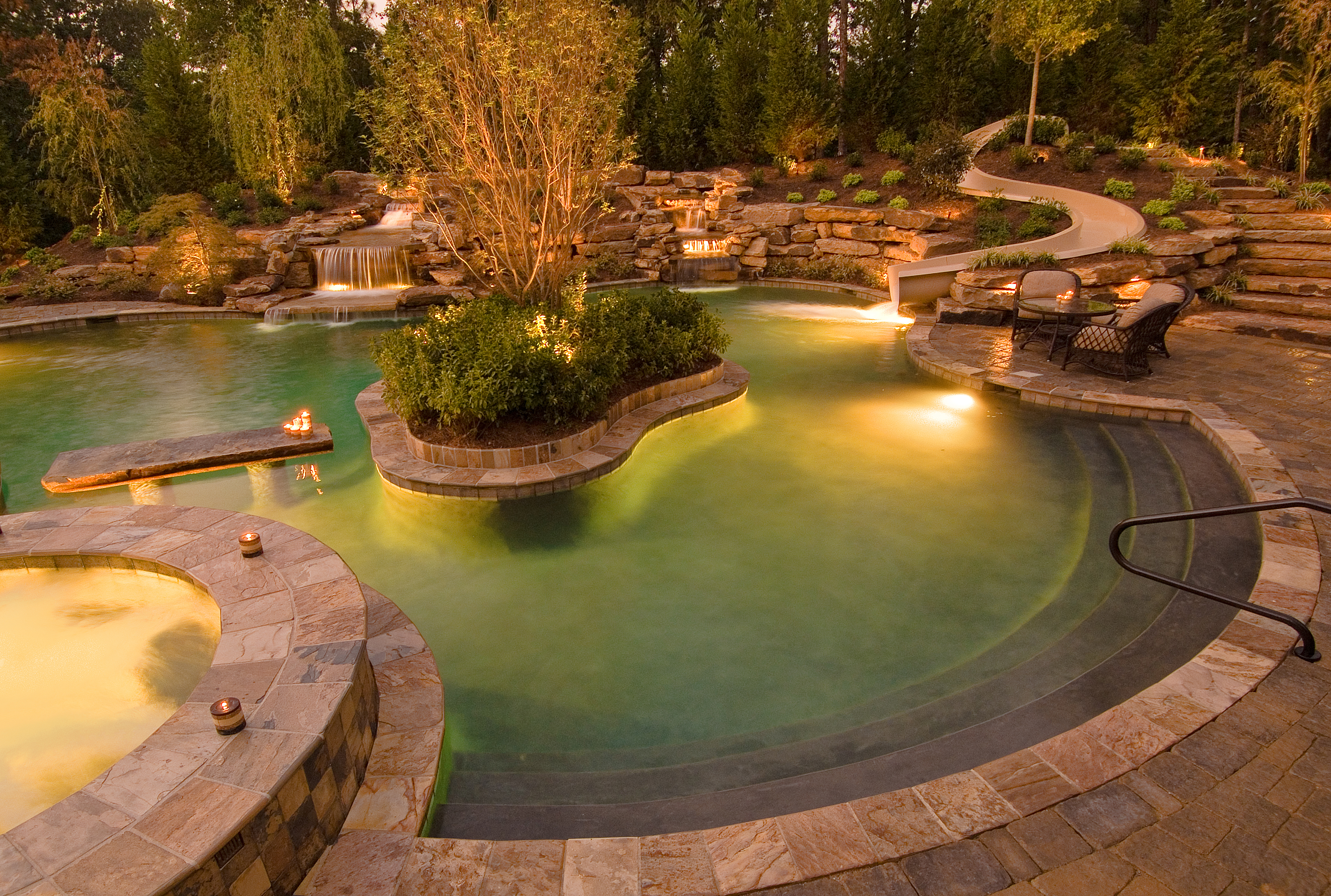 Pool lighting ideas for frontyard and patio Lights