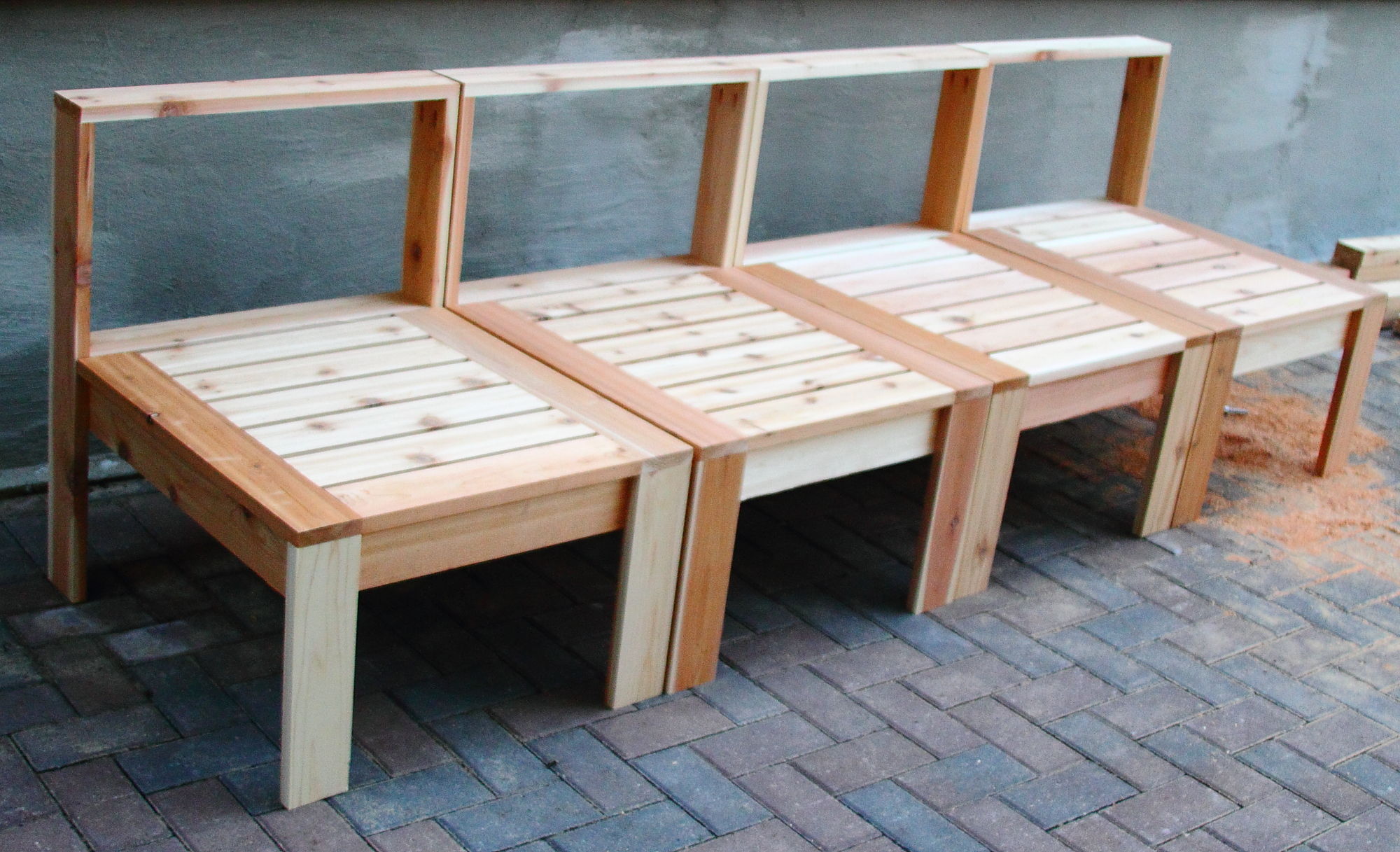 Creative wood bench patio furniture diy projects