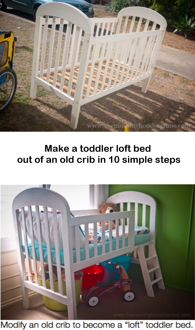 DIY Toddler Loft Bed Ideas Made From Old Crib