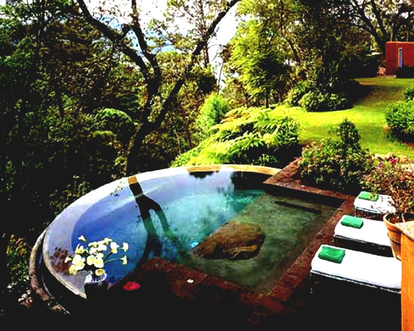 Eye Catching Small Backyard Swimming Pool Ideas With Pool Chairs