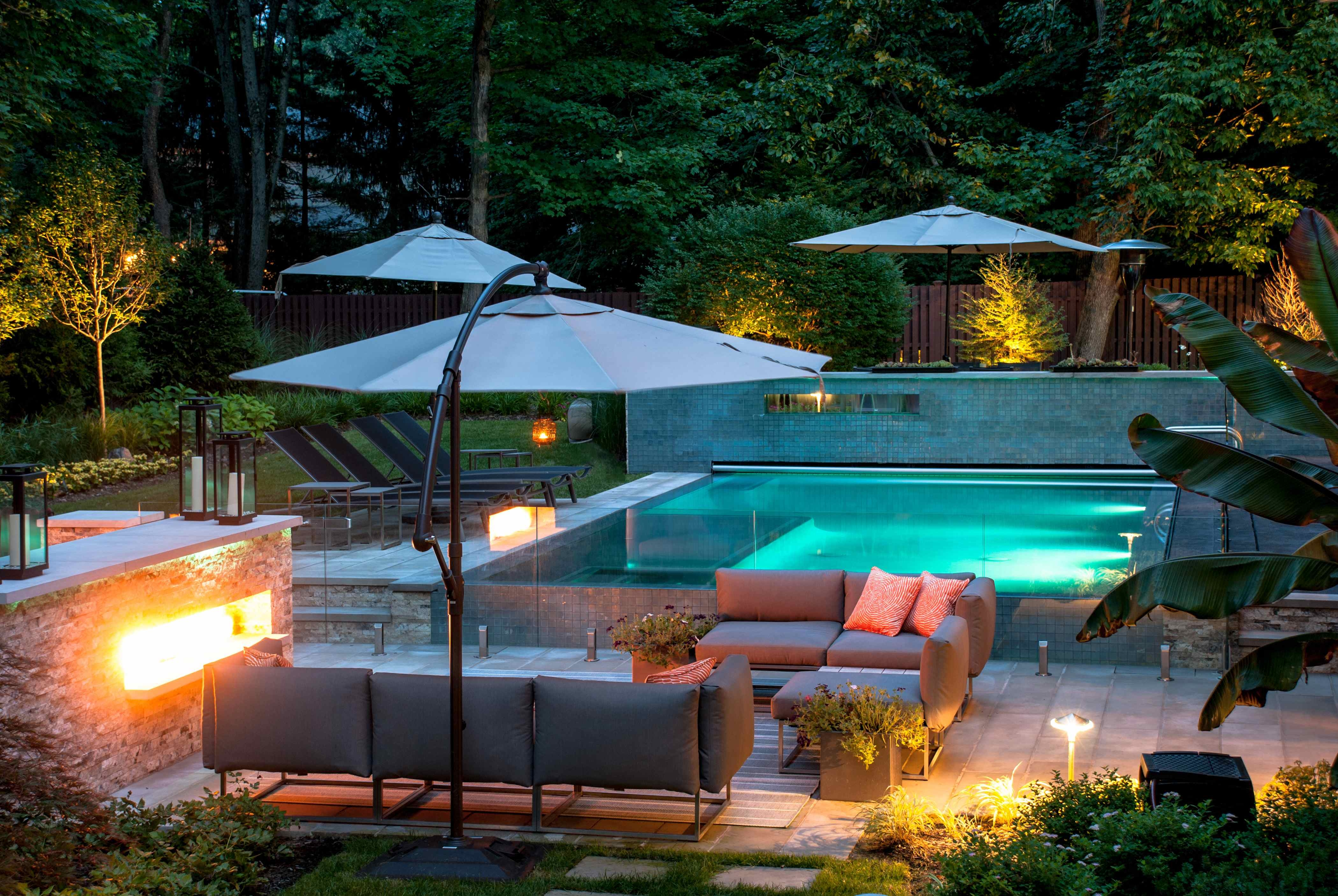 Welcoming luxury modern homes with small pools