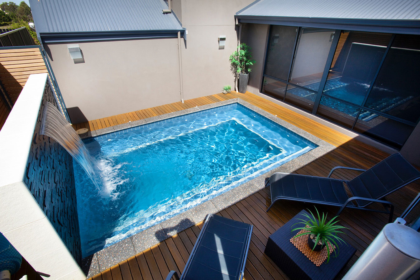 Small Backyard With Pool Landscaping