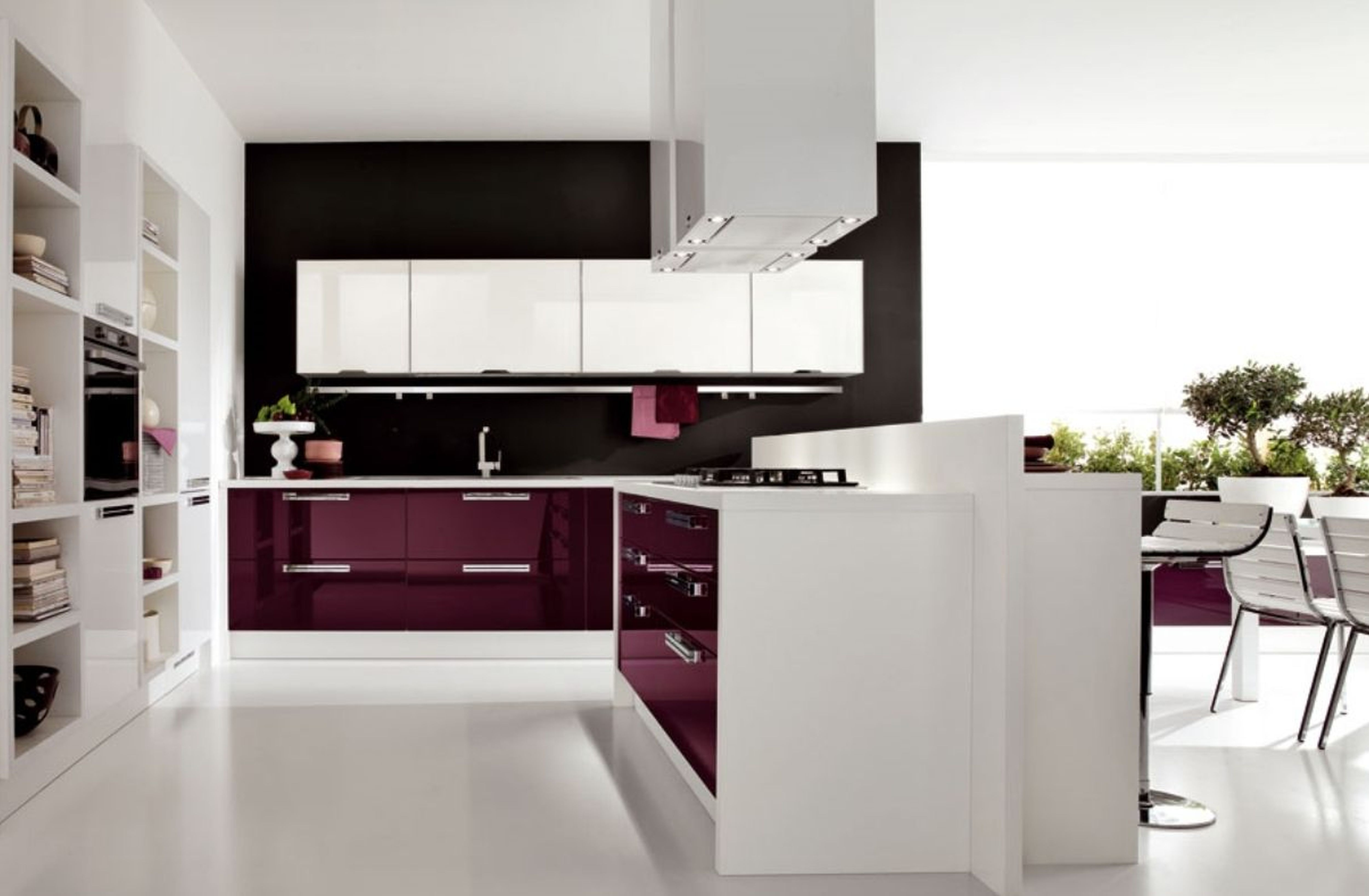 modern laminate kitchen countertops with white cabinets and storage