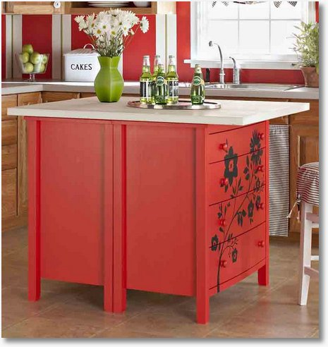 freestanding kitchen island painted color ideas