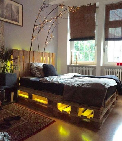 Cool Ideas To Create Diy Bed Frame With Storage And Light Underneath
