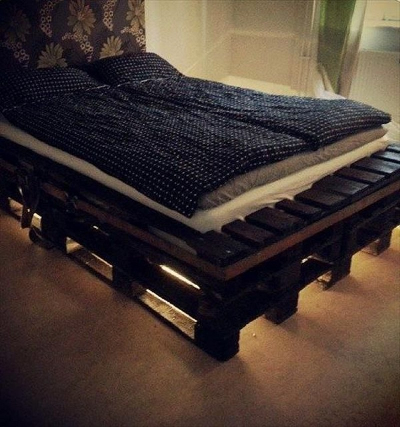 Diy Full Size Bed Frame With Storage Ideas With Light Underneath