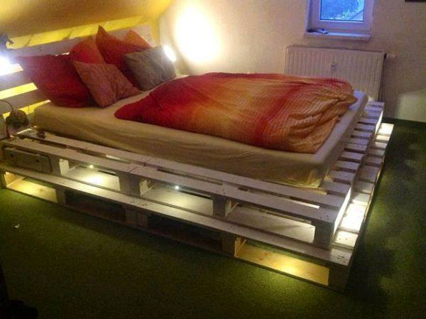 Diy Wood Bed Frame Ideas From Recycled Pallet