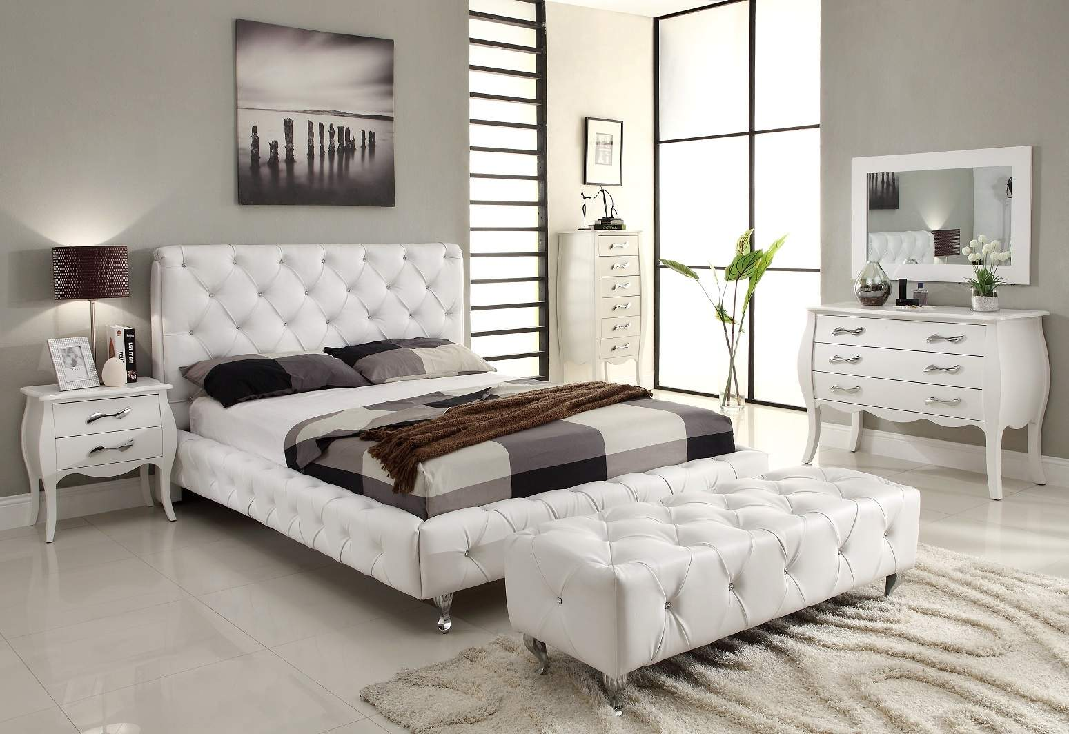 Great white bedroom furniture sets for adults