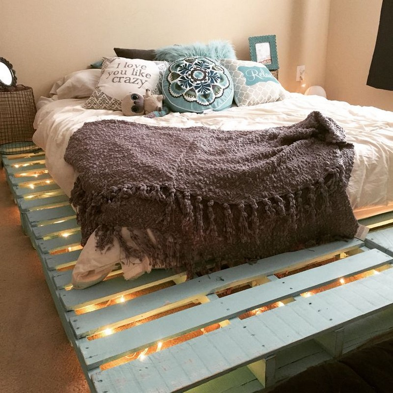 King Size Bed Frame With Light Plans Best Bedroom Furniture Made From Pallets