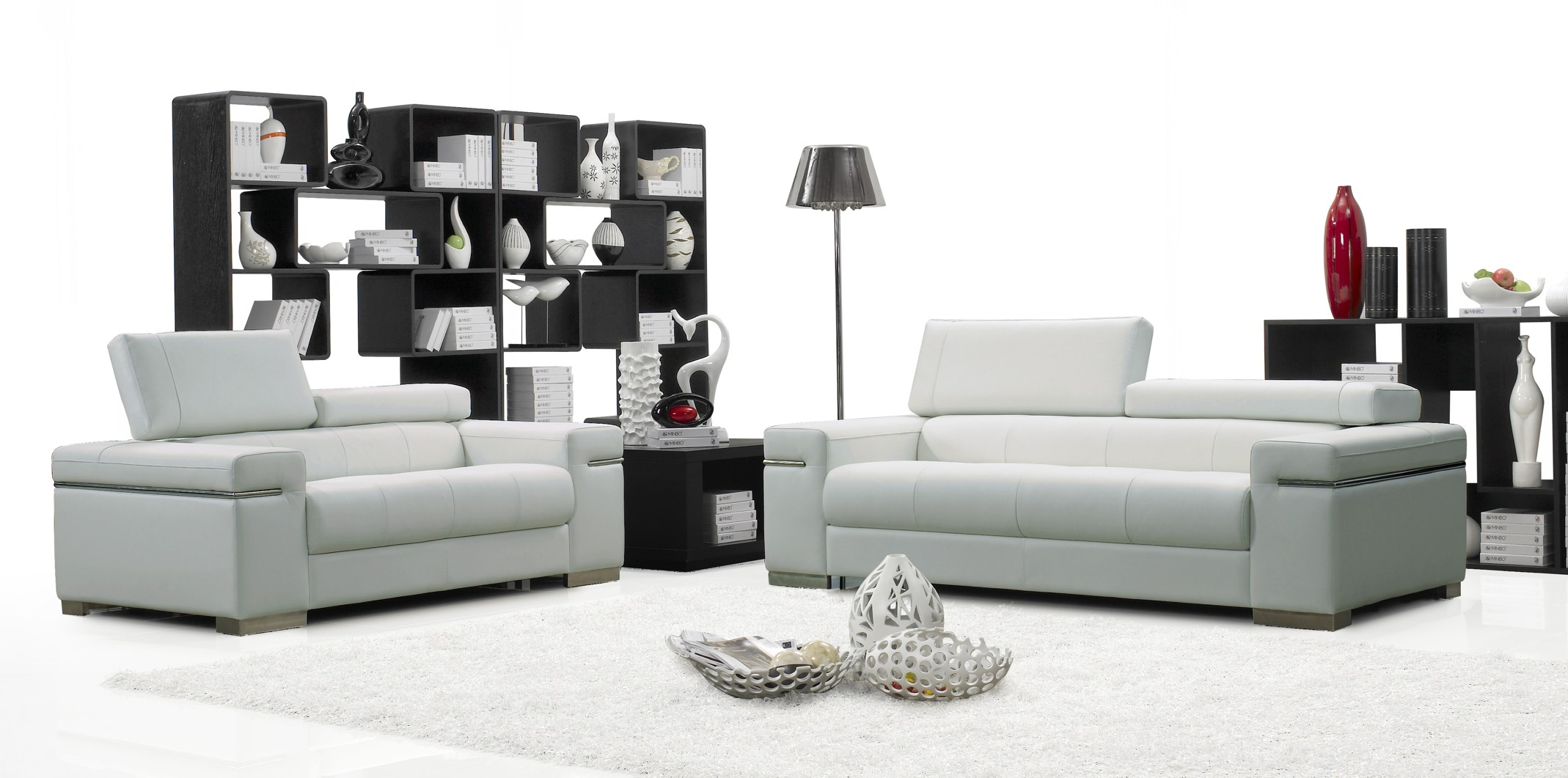 Superb Design Of The White Rugs And White Wall Added With Grey Modern Sofa Sets Ideas