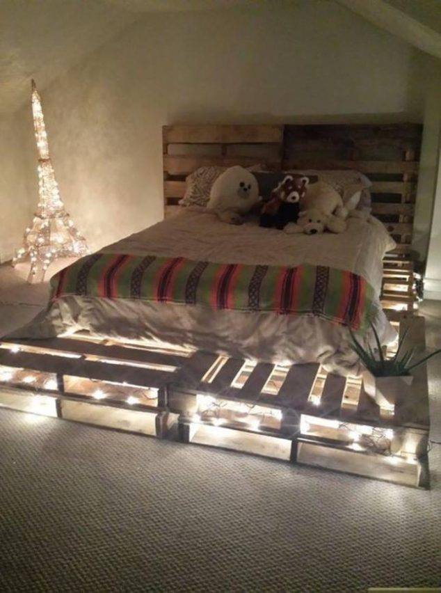 Use This Wood Pallet Bed Ideas To Make Your Own Bed Frame