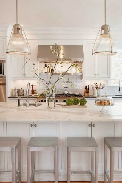 Beautiful kitchen island design with high gloss counter top for rustic kitchen design ideas