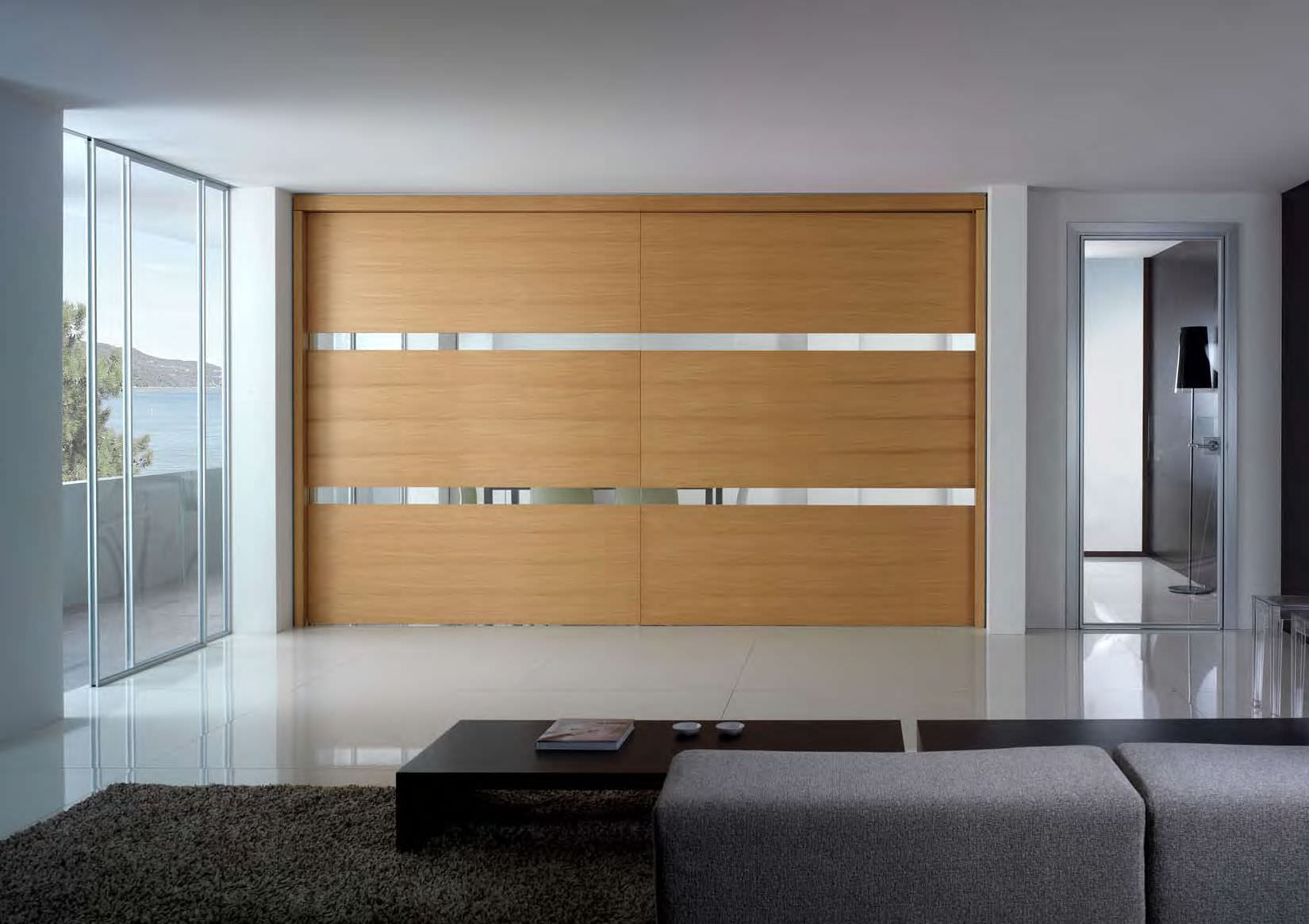 Contemporary fitted wardrobe design with sliding doors for wardrobes 2 panel