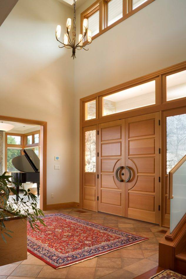 Cool wood front door entryways design for accent style