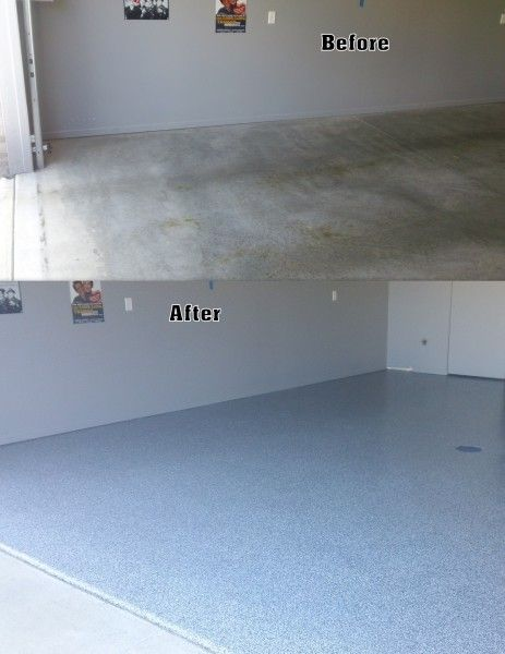 Garage flooring ideas before and after solid epoxy garage floor coating